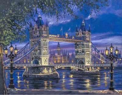 FLF-041 Набор для вышивки бисером Лондонский мост