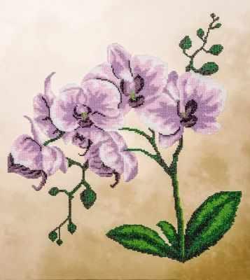 """Купить со скидкой FLF-018 Набор для вышивки бисером """"Розовая орхидея"""""""