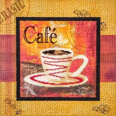 FLF-061 Набор для вышивки бисером Чашечка кофе-4