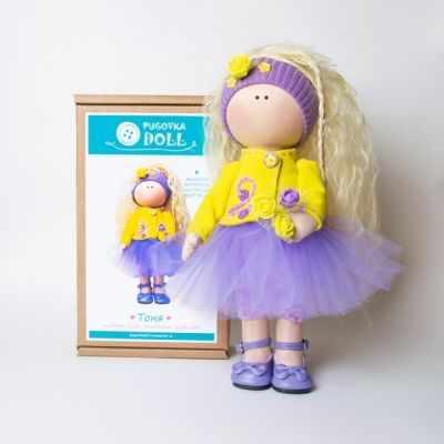 Набор для изготовления игрушки Pugovka Doll Набор Тоня, 35 см