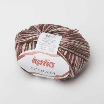 Пряжа Katia Пряжа Katia Oceania Цвет.1015.69 бел.роз.борд.коричн.