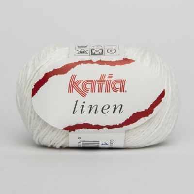 Пряжа Katia Пряжа Katia Linen Цвет.485.1 белый