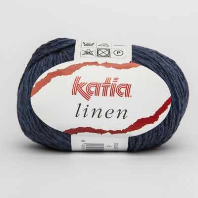 Пряжа Katia Пряжа Katia Linen Цвет.485.5 синий