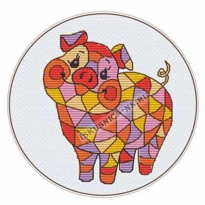 661 Мозаика. Свинка