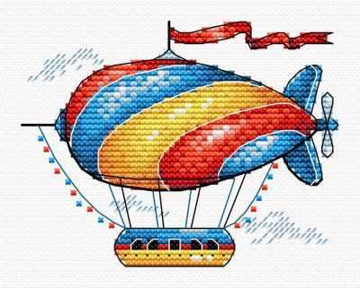 Набор для вышивания МП Студия М-365 Сказочный аэростат