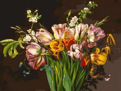 набор для живописи белоснежка прохлада в летний день 277 as 30 х 40 см Набор для рисования по номерам Белоснежка 261-AS Голландские тюльпаны (Белоснежка)