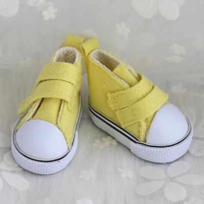 Заготовки и материалы для изготовления игрушки Арт ткани Обувь для кукол кеды, 5 см на липучках (желтые)