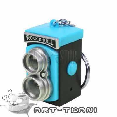 Заготовки и материалы для изготовления игрушки Арт ткани Ретро фотокамера для игрушек, голубая