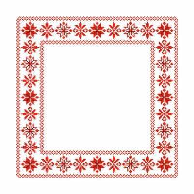 Основа для вышивания с нанесённым рисунком Каролинка ККС/хб/- 014 Заготовка для салфетки - схема для вышивания (Каролинка)