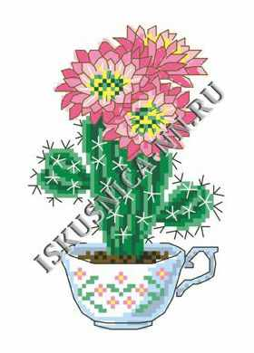 Набор для вышивания Искусница м8152 Цветущей кактус