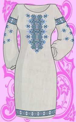 Заготовка для вышиванки Каролинка КБС/пл-12 Заготовка для вышивки платья (Каролинка)