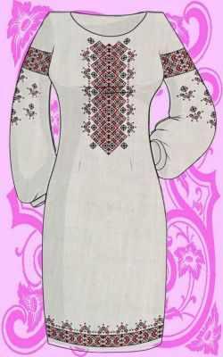КБПН/лен/-13 Набор для вышивки платья (Каролинка)