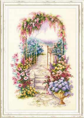 Набор для вышивания Чудесная игла 110-001 Садовая калитка садовая техника