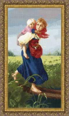 Набор для вышивания Золотое Руно МК-033 Дети, бегущие от грозы