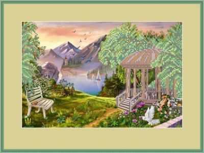 Основа для вышивания с нанесенным рисунком Матрёшкина КАЮ4053 Беседка - схема для вышивания (Матрёшкина) основа для вышивания с нанесенным рисунком матрёшкина каю6016 лисичка