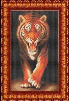 Основа для вышивания с нанесённым рисунком Каролинка КБЖ 2006 Хищники - Тигр - схема для вышивания (Каролинка)