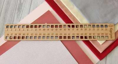 Органайзер Березка Органайзер для ниток Прямоугольный, 50 отверстий, бук