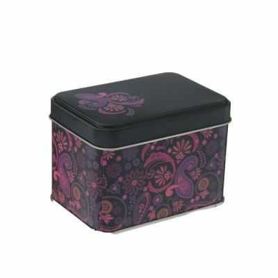 1528374 Банка для сыпучих продуктов прямоугольная, 400 мл Бута 7х10 см , цвет лиловый