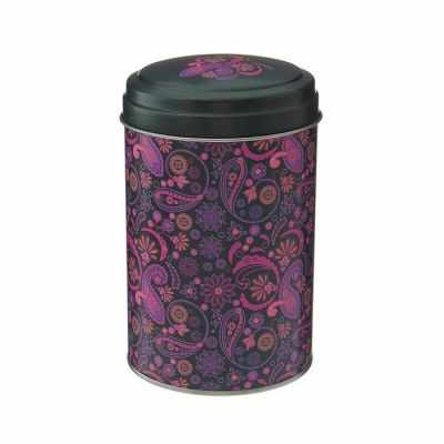 1528377 Банка для сыпучих продуктов, круглая, 1,1 л Бута d=10 см, цвет лиловый