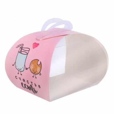 Упаковка для выпечки Дарите Счастье 2861620 Коробочка под десерт «Счастье есть»