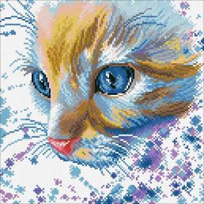 Купить со скидкой М365 Акварельный кот - мозаика (Паутинка)