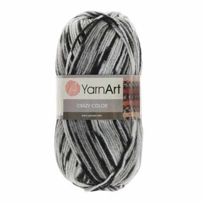 Пряжа YarnArt Пряжа YarnArt Crazy Color Цвет.137 Серый меланж