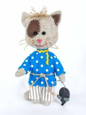 Набор для изготовления игрушки Перловка ПЛДК-1454 Домовитый кот Василий - игрушка (Перловка) перловка набор для изготовления игрушки зубная фея перловка