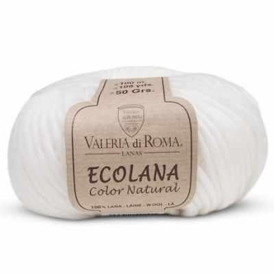 Пряжа Valeria di Roma Ecolana Цвет.000 Белый