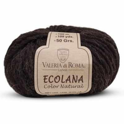 Пряжа Valeria di Roma Пряжа Valeria di Roma Ecolana Цвет.004 Черный