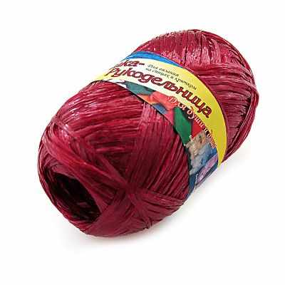 Пряжа Хозяюшка-рукодельница Пряжа Хозяюшка-рукодельница Для души и душа Цвет. Вишневый текстильная ваза рукодельница 20х20