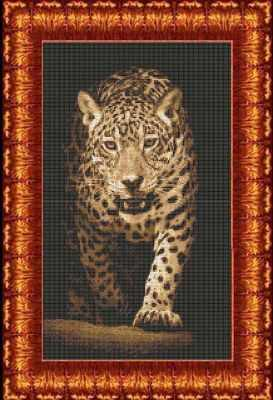 Набор для вышивания Каролинка КТКН 141 Хищники-Леопард -набор