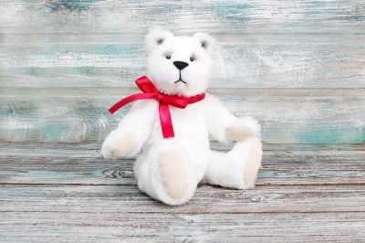 Набор для изготовления игрушки HappyMade Ш019 Набор для шитья из меха Медвежонок Бенджамин