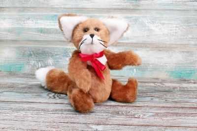 Набор для изготовления игрушки HappyMade Ш023 Набор для шитья из меха Лисенок Кристофер