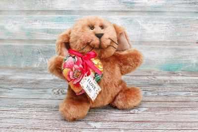 Набор для изготовления игрушки HappyMade Ш025 Набор для шитья из меха Зайчишка Ли