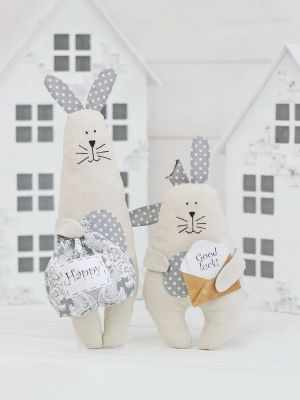 Набор для изготовления игрушки HappyMade Ш027 Набор для шитья и рукоделия Братцы кролики