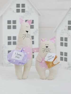 Набор для изготовления игрушки HappyMade Ш028 Набор для шитья и рукоделия Братцы котики