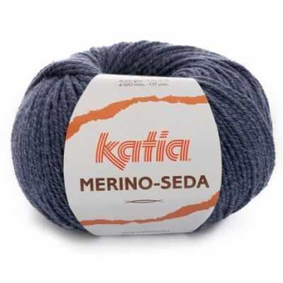Пряжа Katia Пряжа Katia Merino-Seda Цвет.1091.66 седой синий