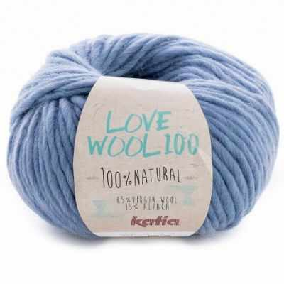 Пряжа Katia Пряжа Katia Love Wool Цвет.1098.214 св.джинс