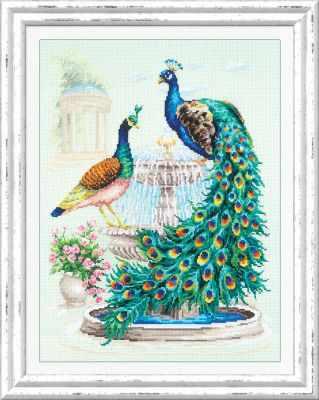 Фото - Набор для вышивания Чудесная игла 130-001 Павлины чудесная планета земля