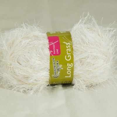 Пряжа Семеновская Травушка Цвет.Белый-песок 1021