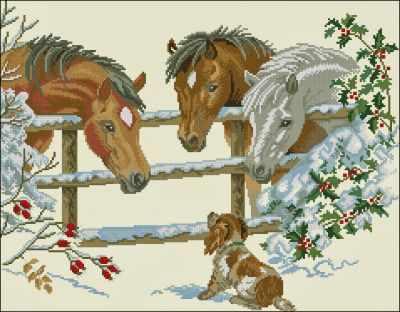 12-741 Лошадки и щенок