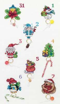 Набор для вышивания Panna PR-7102 Новогодний календарь 0 pr на 100