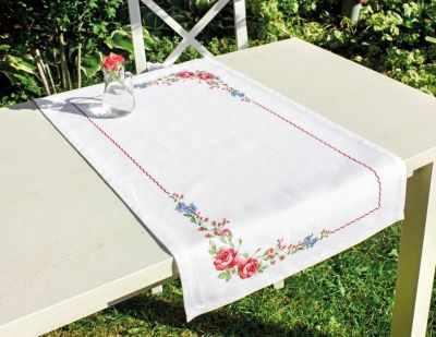 Набор для вышивания Luca-S FM011 Цветы шиповника. Салфетка