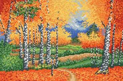 Основа для вышивания с нанесённым рисунком Марiчка РКЗ-028 Осенняя роща - схема для вышивания (Марiчка)