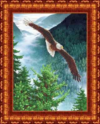Основа для вышивания с нанесённым рисунком Каролинка КБЖ 3032 Орел - схема для вышивания (Каролинка)