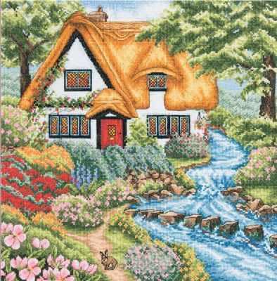Набор для вышивания Anchor PCE959 Коттедж у ручья