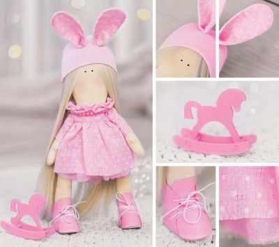 Набор для изготовления игрушки Арт Узор 3299327 Набор для шитья «Мягкая кукла Паффи»