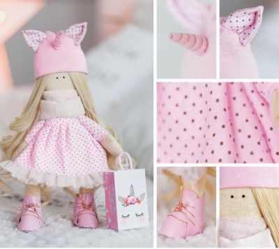 Набор для изготовления игрушки Арт Узор 3299329 Набор для шитья «Мягкая кукла Корни»
