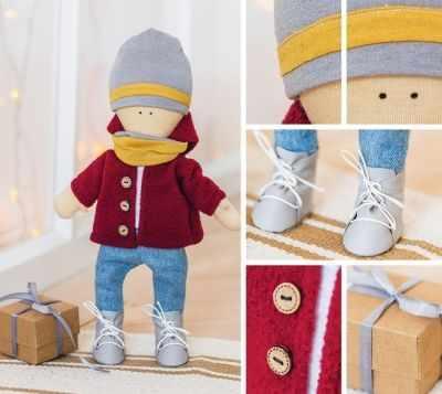 Набор для изготовления игрушки Арт Узор 3299335 Набор для шитья «Мягкая кукла Том»