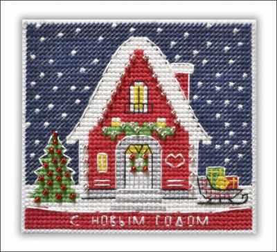 1129 Новогодний домик (Овен)